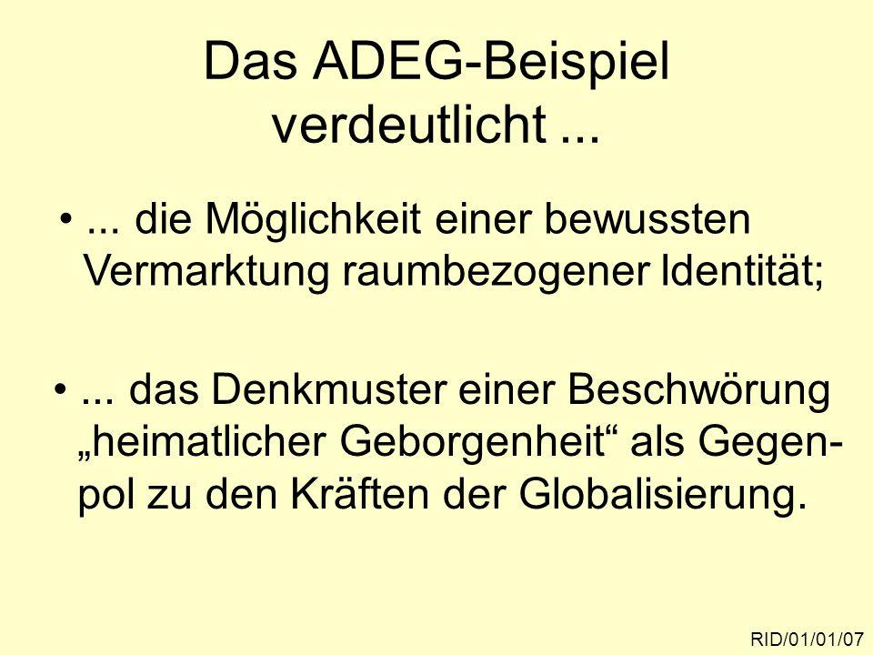 Das ADEG-Beispiel verdeutlicht... RID/01/01/07...