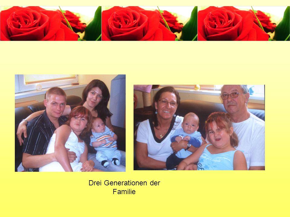 Drei Generationen der Familie