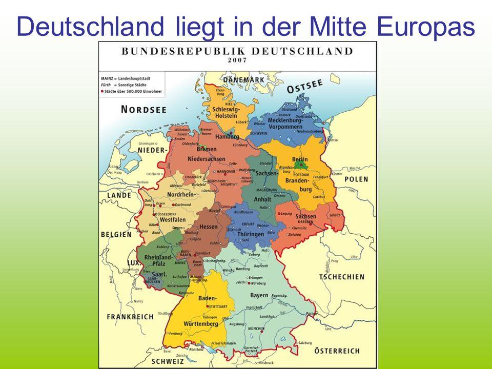 Deutschland liegt in der Mitte Europas