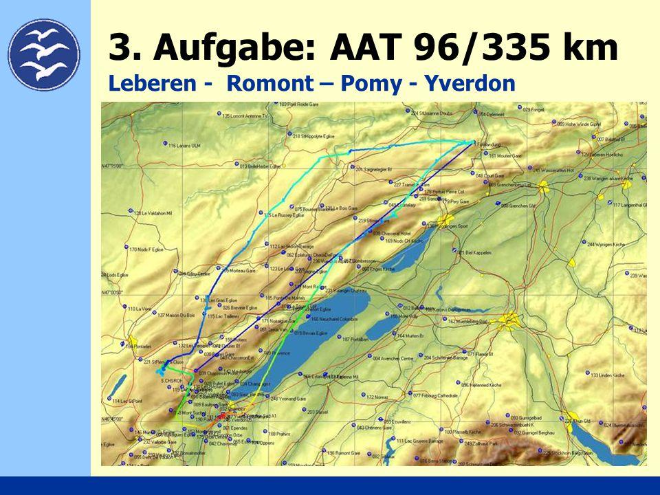 3. Aufgabe: AAT 96/335 km Leberen - Romont – Pomy - Yverdon