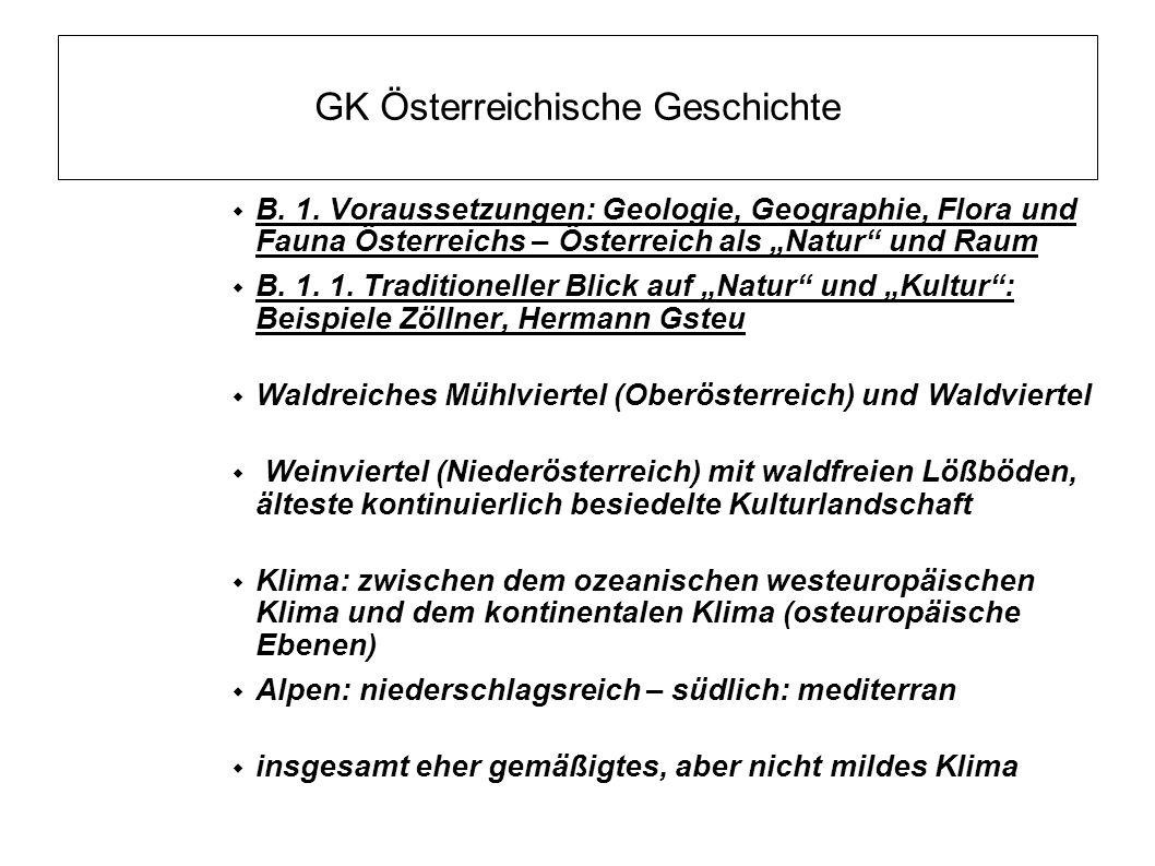GK Österreichische Geschichte B.1.
