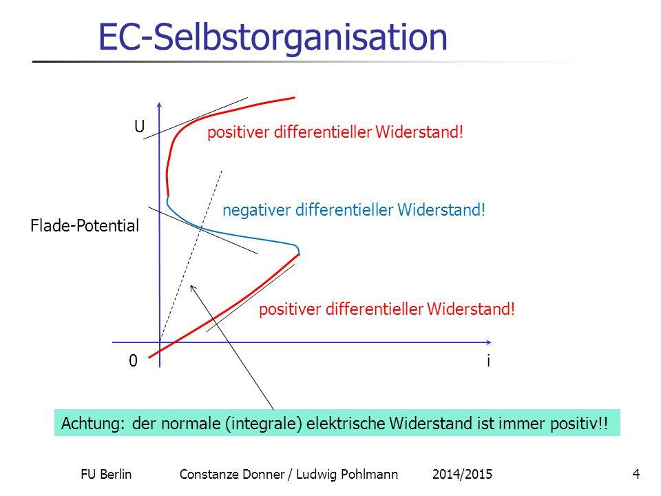 FU Berlin Constanze Donner / Ludwig Pohlmann 2014/201515 EC-Selbstorganisation 2.
