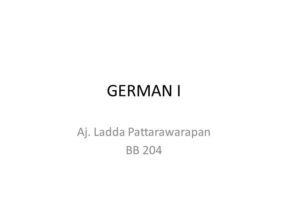 GERMAN I Aj. Ladda Pattarawarapan BB 204