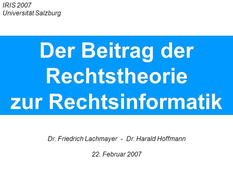 Dr. Friedrich Lachmayer - Dr. Harald Hoffmann 22.