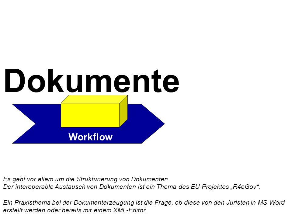 Workflow Es geht vor allem um die Strukturierung von Dokumenten.