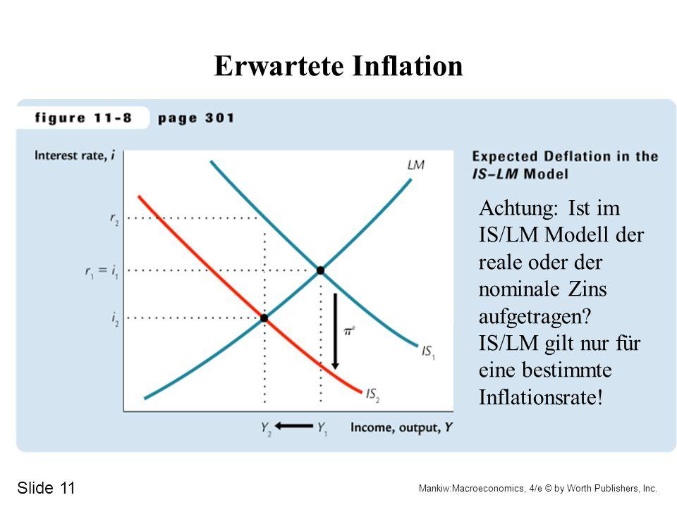 Effekte sinkender Preise Stabilisierung durch steigende Realkasse und Pigou-Effekt (über Finanz-Vermögen) Destabilisierung durch real höhere Schulden – und Schuldner haben höhere Konsumquote und durch höhere Realzinsen (Investitionen sinken)