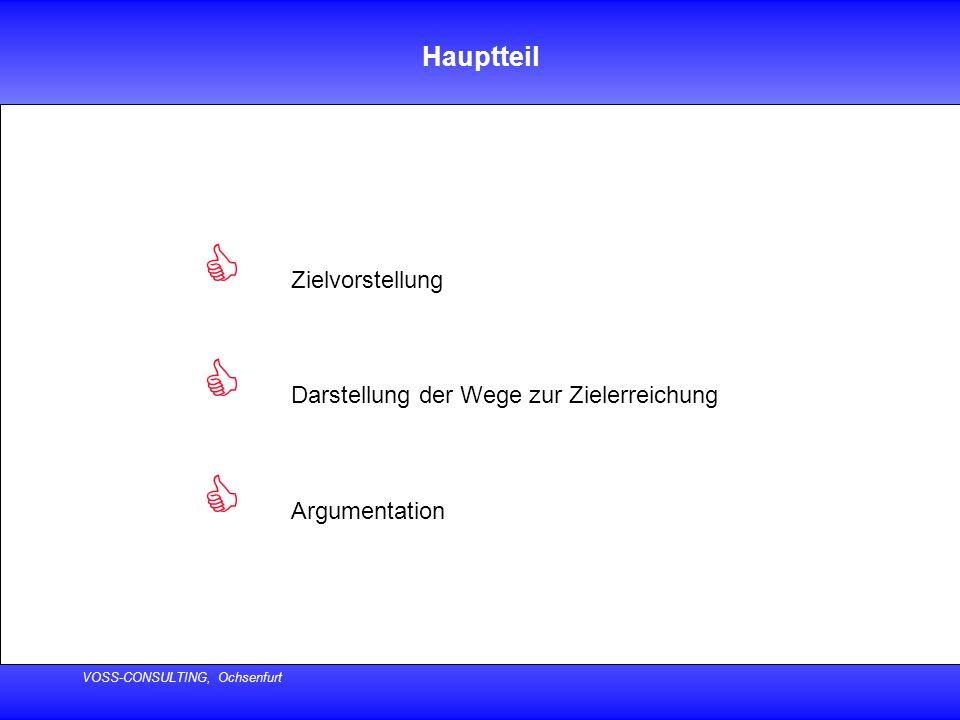VOSS-CONSULTING, Ochsenfurt Schluss  Zusammenfassung  Handlungsaufforderung  Dank an die Beteiligten