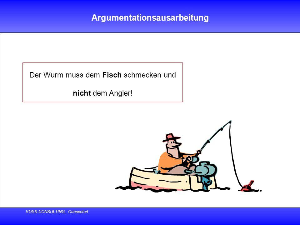 VOSS-CONSULTING, Ochsenfurt Argumentationsausarbeitung Der Wurm muss dem Fisch schmecken und nicht dem Angler!