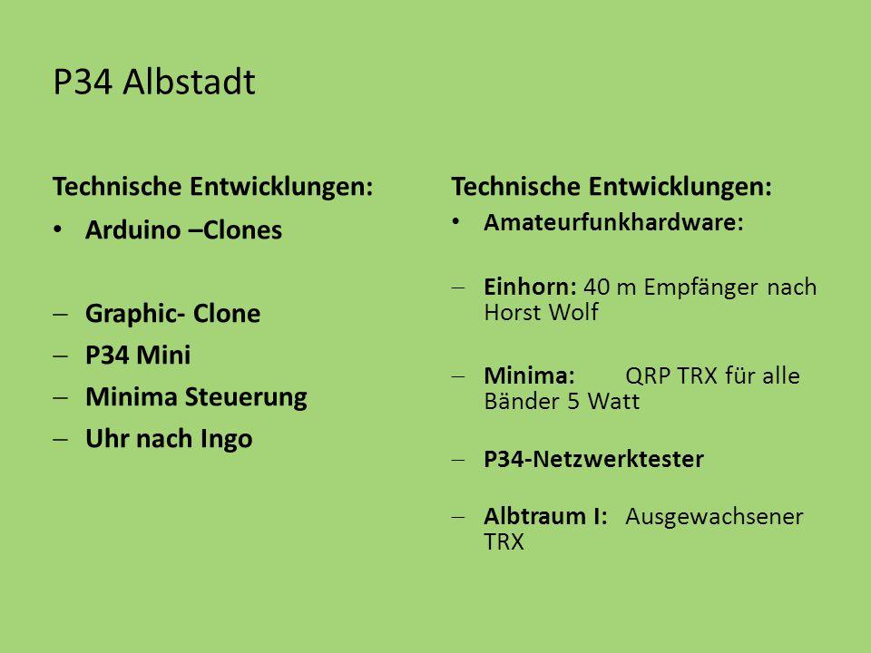 P34 Albstadt Technische Entwicklungen: Arduino –Clones  Graphic- Clone  P34 Mini  Minima Steuerung  Uhr nach Ingo Technische Entwicklungen: Amateu