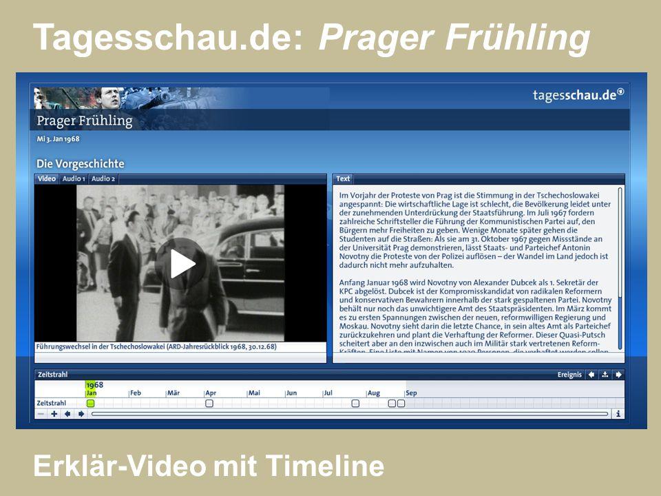 Tagesschau.de: Prager Frühling Erklär-Video mit Timeline