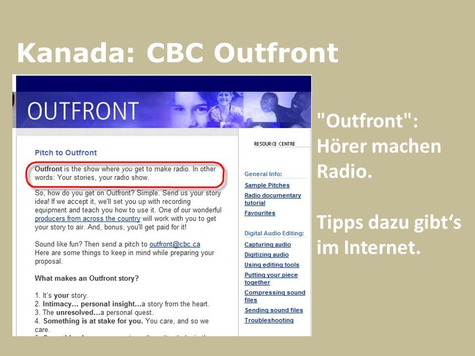 Kanada: CBC Outfront