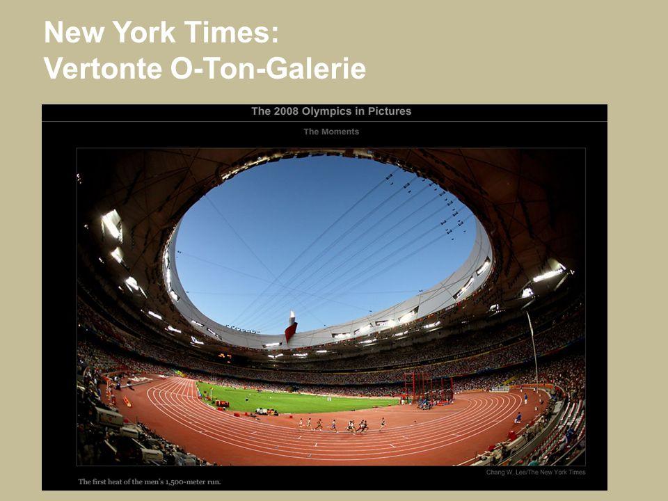 New York Times: Vertonte O-Ton-Galerie