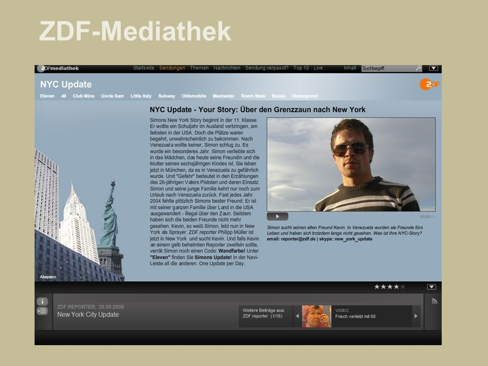 BBC: Video-Nation Multimedialer User-Dialog Menschen erzählen Menschen aus ihrem Leben.