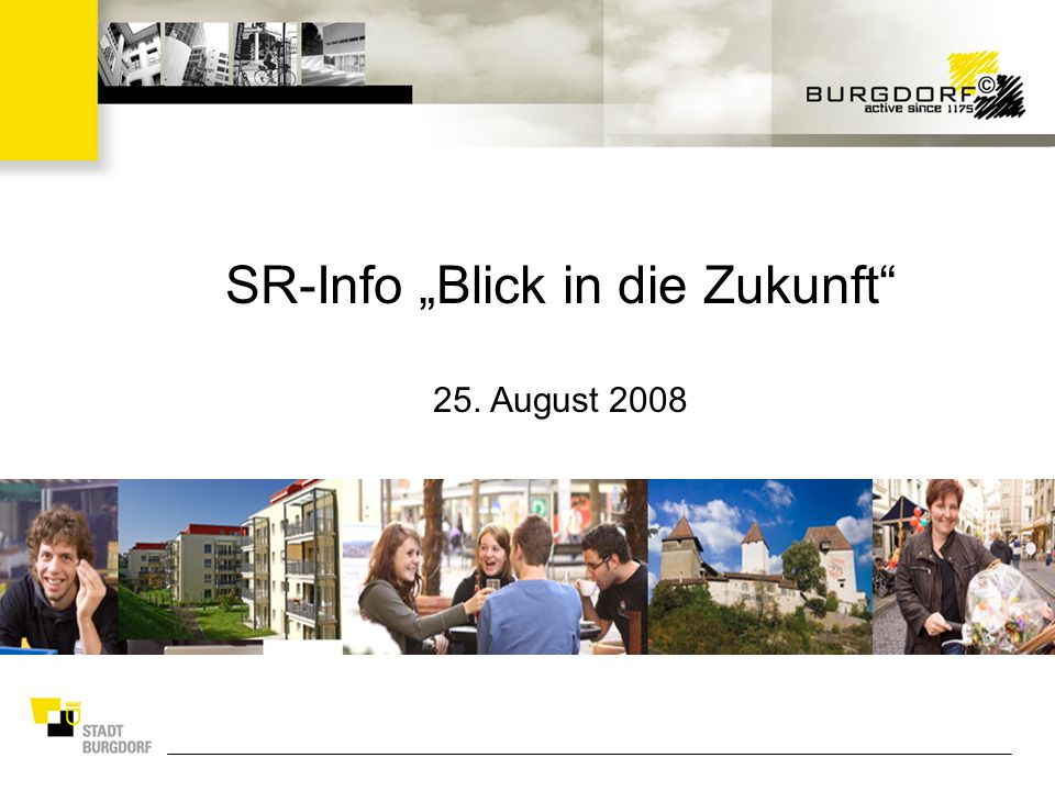 """SR-Info """"Blick in die Zukunft 25. August 2008"""