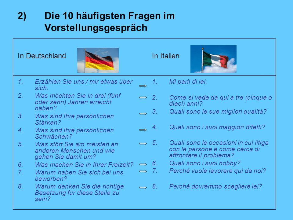 In Deutschland 1.Erzählen Sie uns / mir etwas über sich.