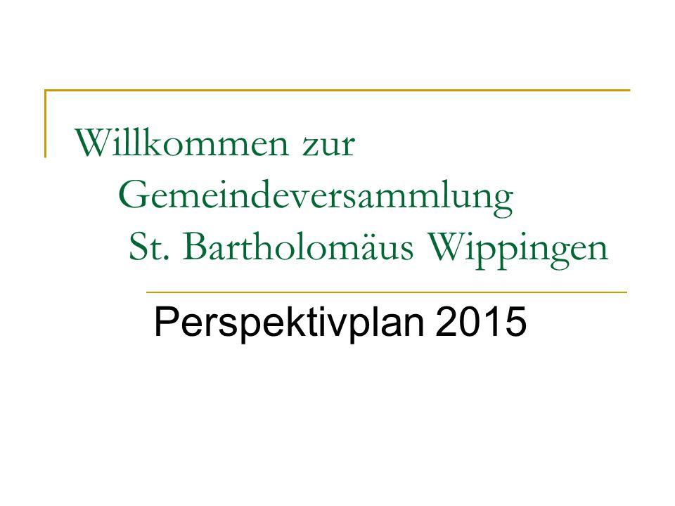 Willkommen zur Gemeindeversammlung St. Bartholomäus Wippingen Perspektivplan 2015