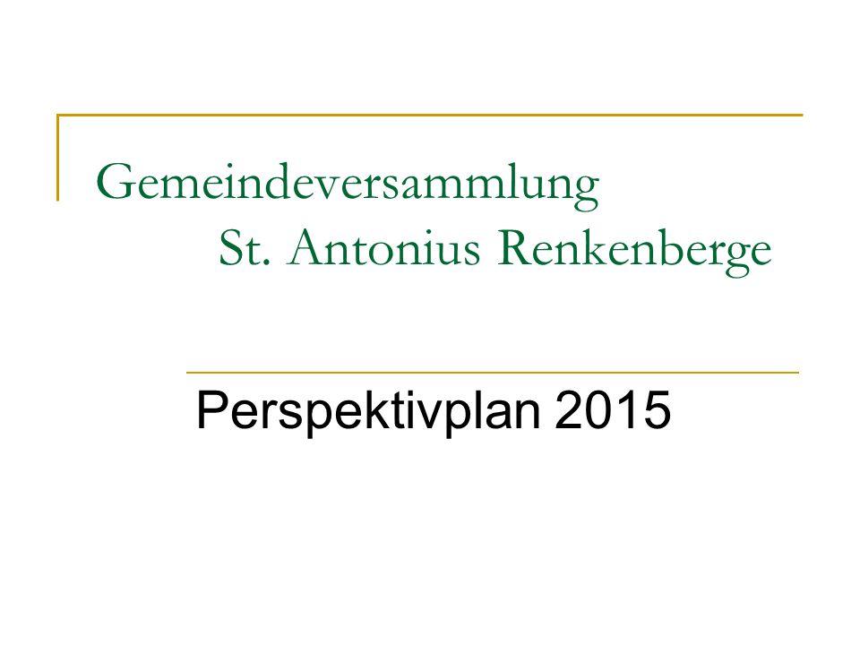 Gemeindeversammlung St. Antonius Renkenberge Perspektivplan 2015