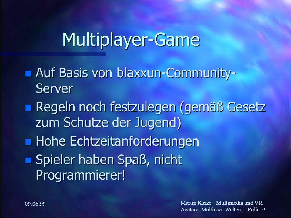 Martin Kurze:Multimedia und VR Avatare, Multiuser-Welten...