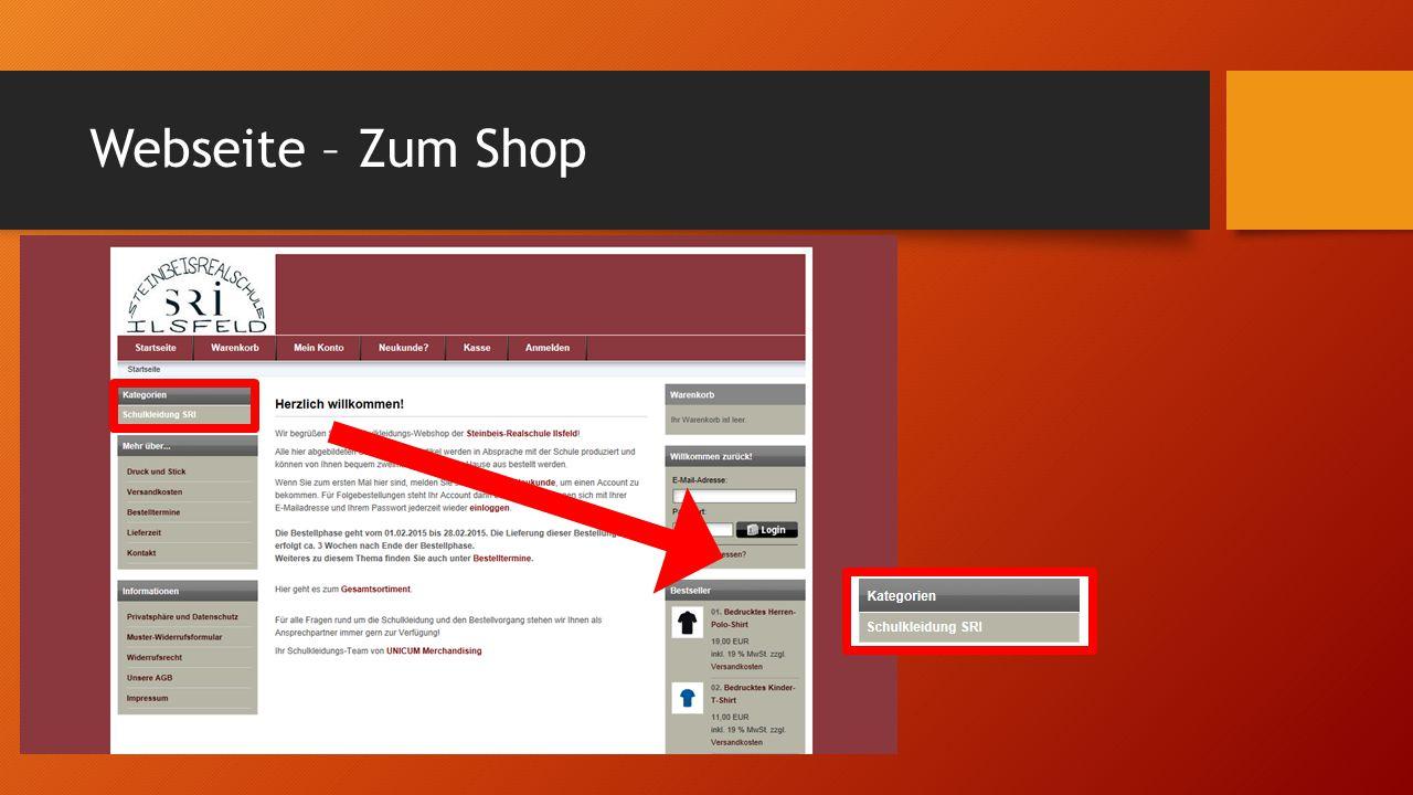 Webseite – Zum Shop