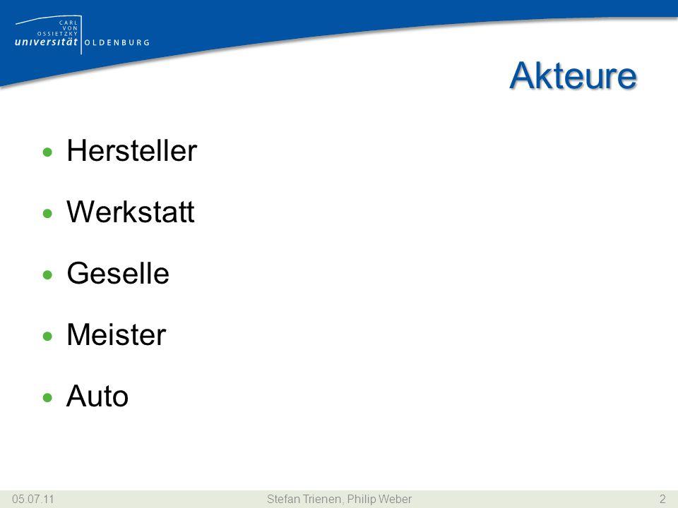 Akteure Hersteller Werkstatt Geselle Meister Auto 05.07.11Stefan Trienen, Philip Weber2