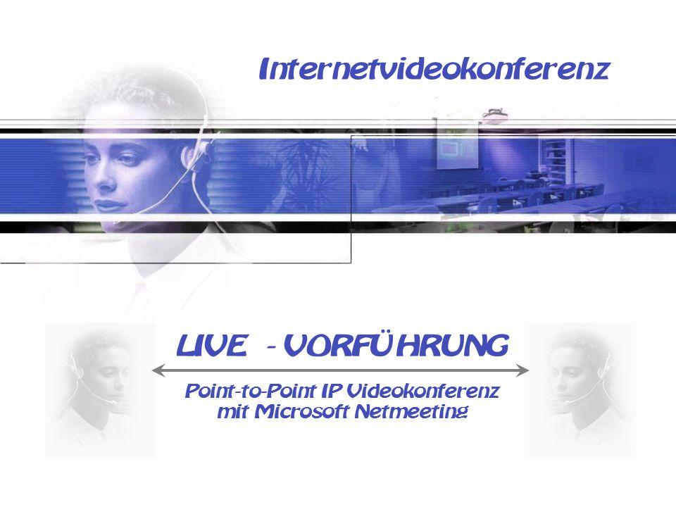Internetvideokonferenz LIVE - VORFÜHRUNG Point-to-Point IP Videokonferenz mit Microsoft Netmeeting