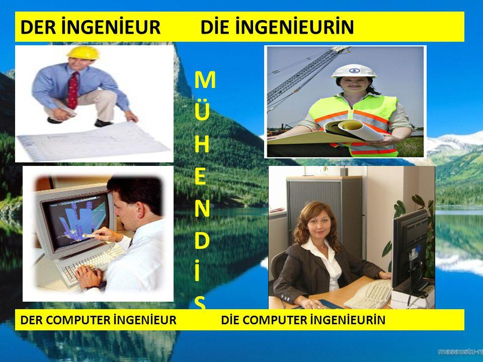 DER İNGENİEUR DİE İNGENİEURİN DER COMPUTER İNGENİEUR DİE COMPUTER İNGENİEURİN MÜHENDİSMÜHENDİS