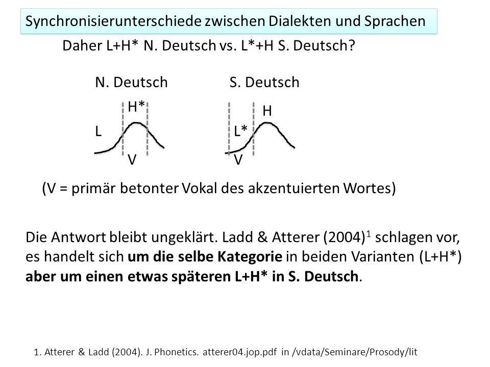 Mehl (Wien) e H Mehl (Kiel) HH e e Spätere Gipfel in Wien vs. Kiel