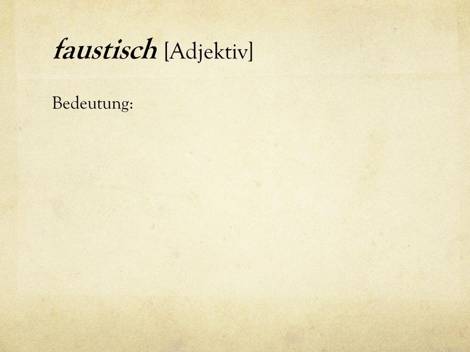 Fragen zu Fausts Charakter.Wie viel von Goethes Persönlichkeit sehen Sie in Dr.