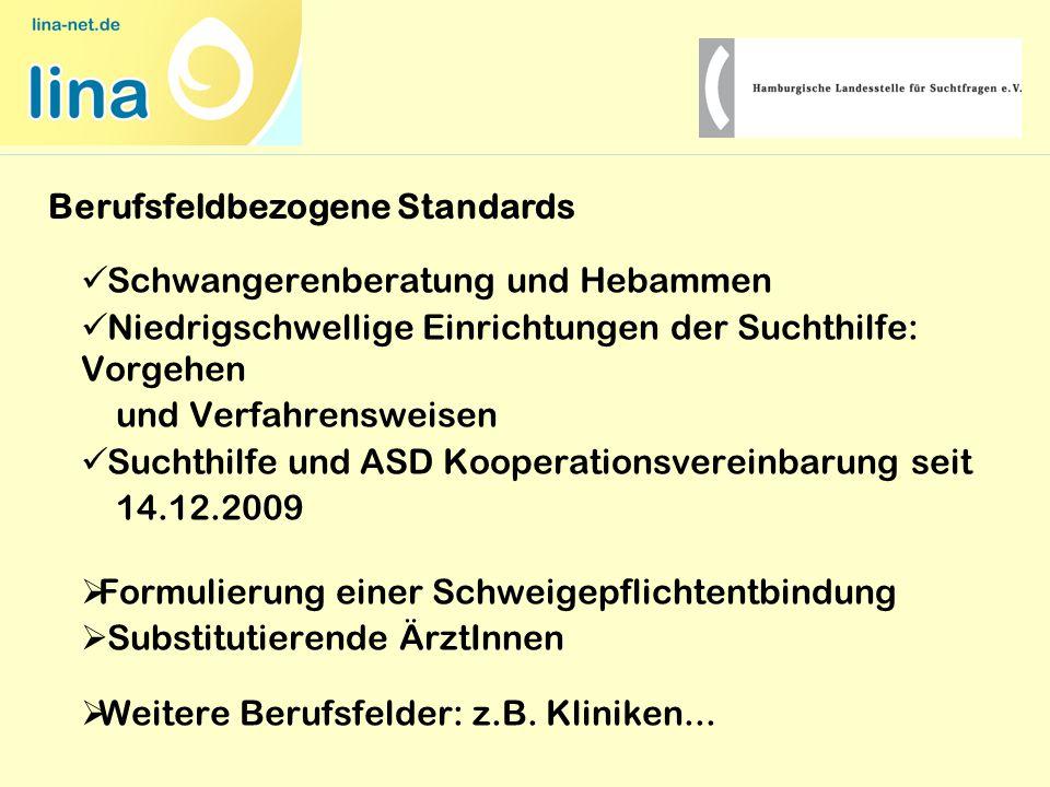 Schwangerenberatung und Hebammen Niedrigschwellige Einrichtungen der Suchthilfe: Vorgehen und Verfahrensweisen Suchthilfe und ASD Kooperationsvereinba