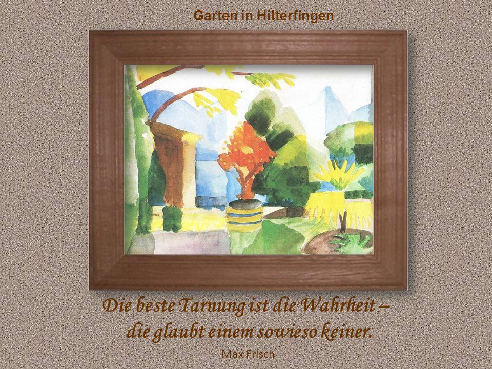 Gartenpromenade Von einem guten Kompliment kann man zwei Monate leben. Mark Twain