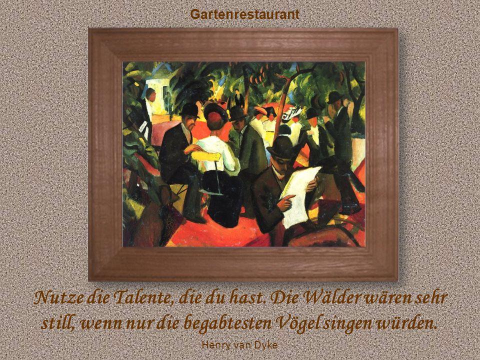 Garten in Hilterfingen Max Frisch Die beste Tarnung ist die Wahrheit – die glaubt einem sowieso keiner.