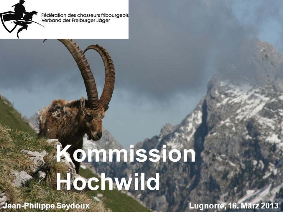 Kommission Hochwild Lugnorre, 16. März 2013 Jean-Philippe Seydoux