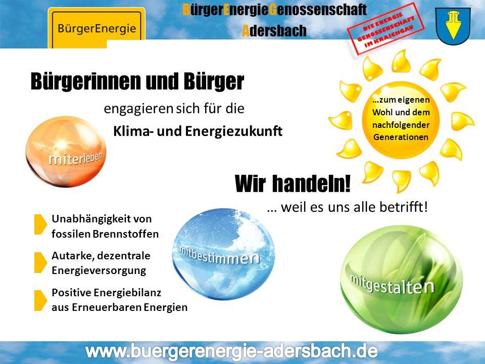 BürgerEnergieGenossenschaft Adersbach Wirhandeln! … weil es uns alle betrifft! Bürgerinnen und Bürger engagierensichfür die Klima-und Energiezukunft U
