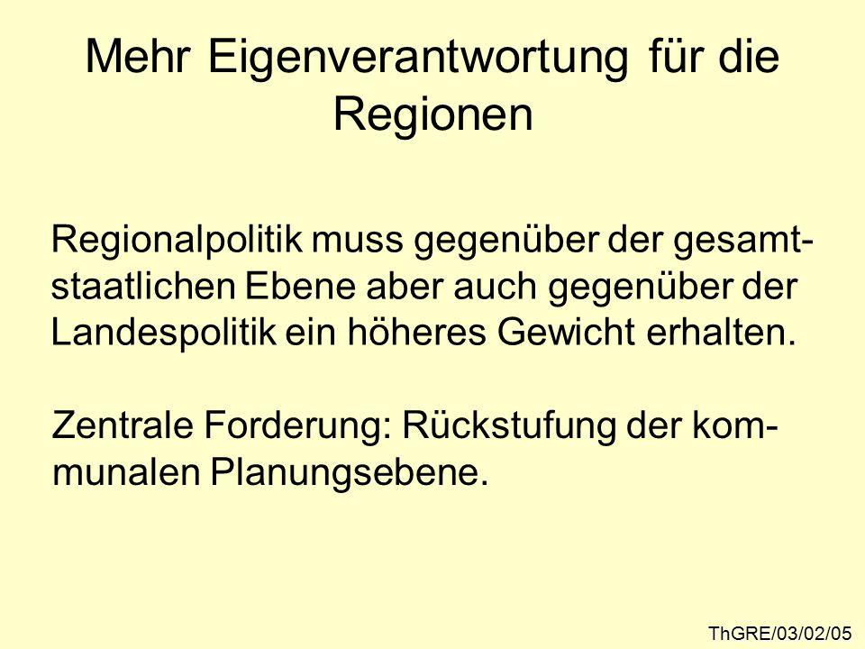 Fazit: ThGRE/03/02/16 Übergang von der Ordnungs- planung zur Entwicklungs- planung.