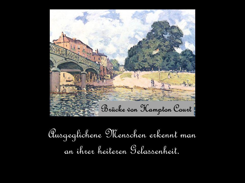 Brücke von Hampton Court Ausgeglichene Menschen erkennt man an ihrer heiteren Gelassenheit.