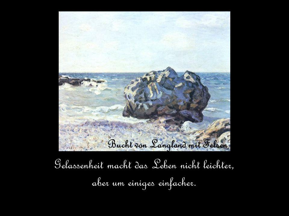 Bucht von Langland mit Felsen Gelassenheit macht das Leben nicht leichter, aber um einiges einfacher.
