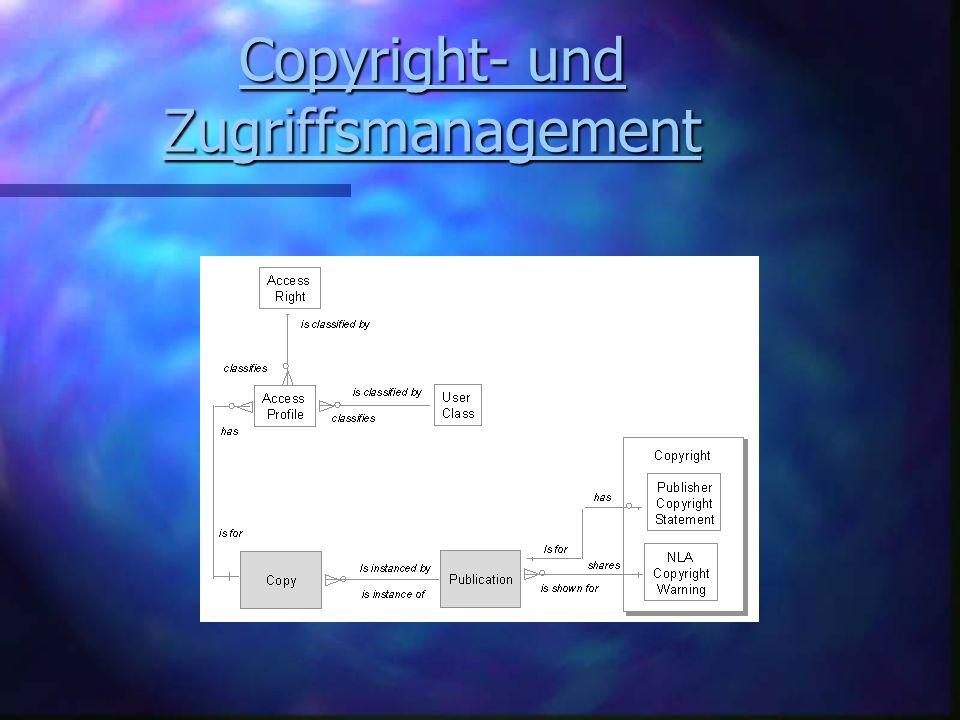 Copyright- und Zugriffsmanagement Copyright- und Zugriffsmanagement