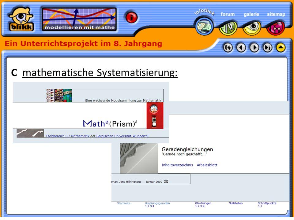 Formatvorlage des Untertitelmasters durch Klicken bearbeiten 30.05.11 C mathematische Systematisierung:
