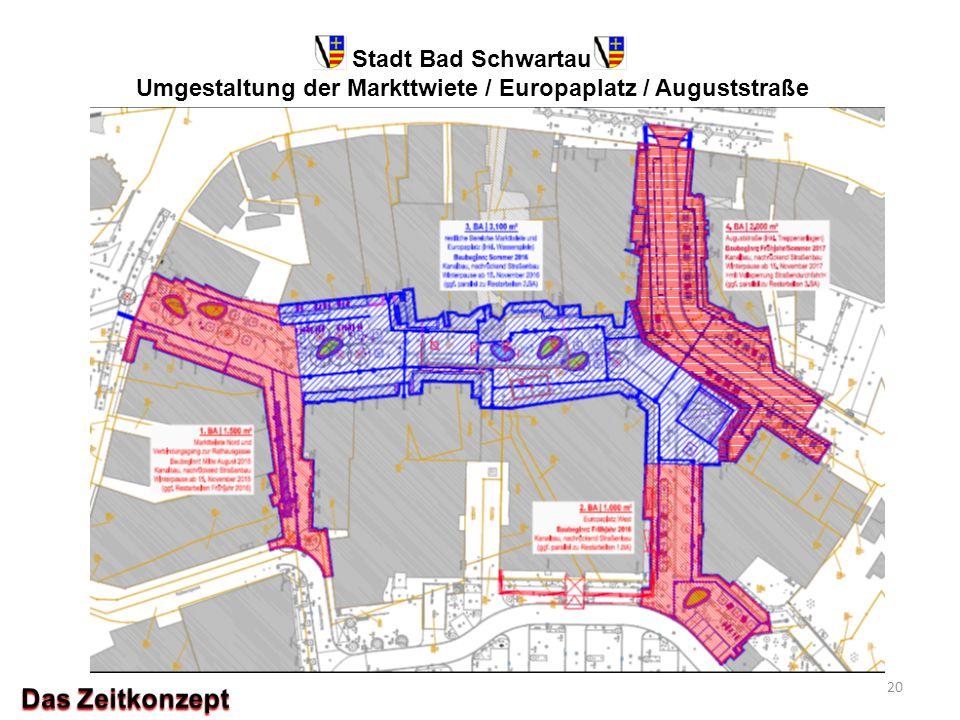 Stadt Bad Schwartau Umgestaltung der Markttwiete / Europaplatz / Auguststraße 20