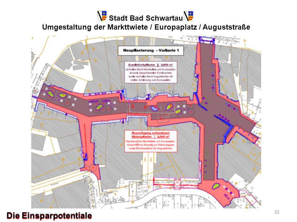 Stadt Bad Schwartau Umgestaltung der Markttwiete / Europaplatz / Auguststraße 22