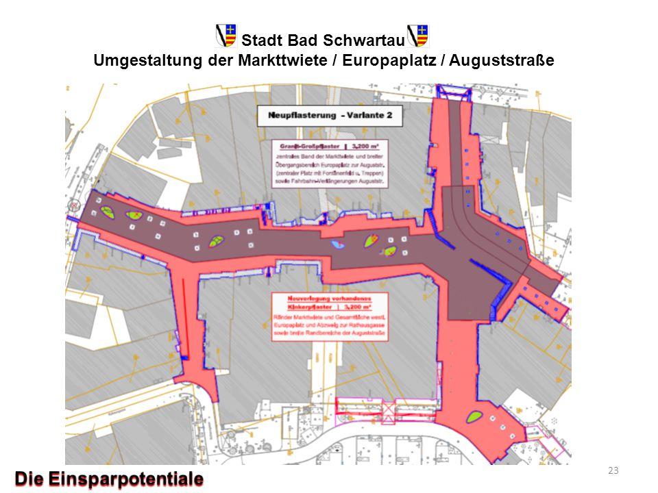 Stadt Bad Schwartau Umgestaltung der Markttwiete / Europaplatz / Auguststraße 23