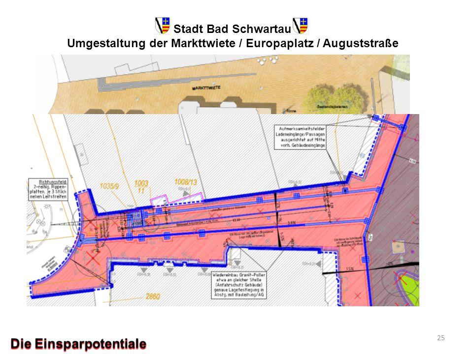 Stadt Bad Schwartau Umgestaltung der Markttwiete / Europaplatz / Auguststraße 25