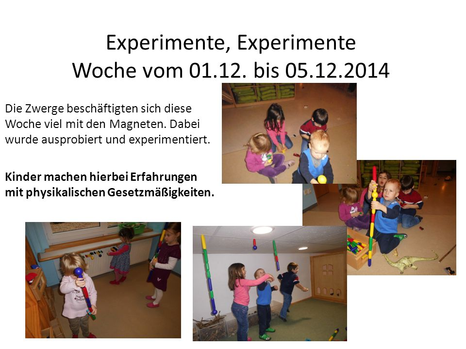 Bei einem Wasserexperiment konnten die Kinder beobachten, wie ein zusammengefaltetes Handtuch im Wasser größer wird und sich entfaltet.