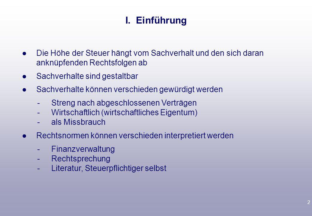 3 1.Schutz vor Gesetzesänderung.Vertrauen in Fortbestand der Gesetzeslage geschützt.