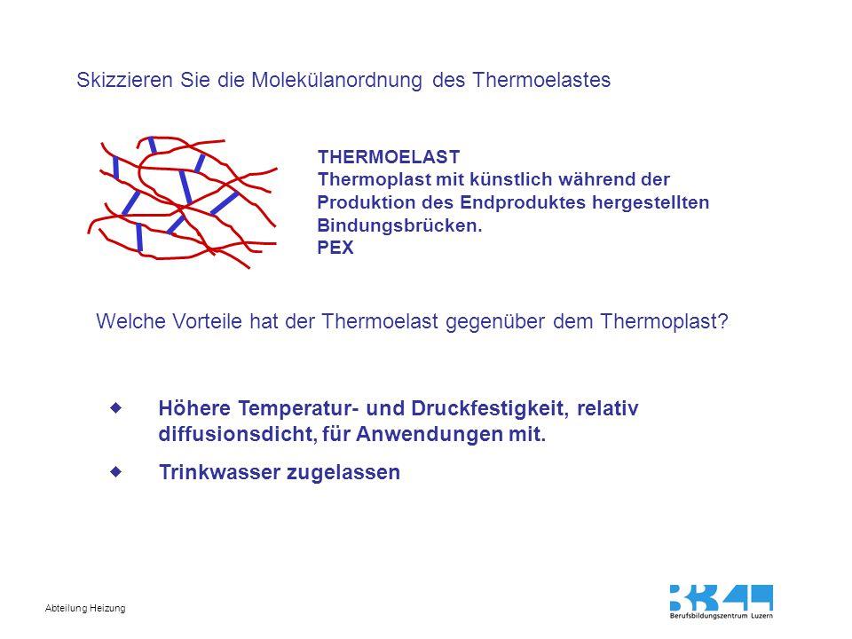 Abteilung Heizung Weshalb darf der Thermoelast nicht geschweisst werden.