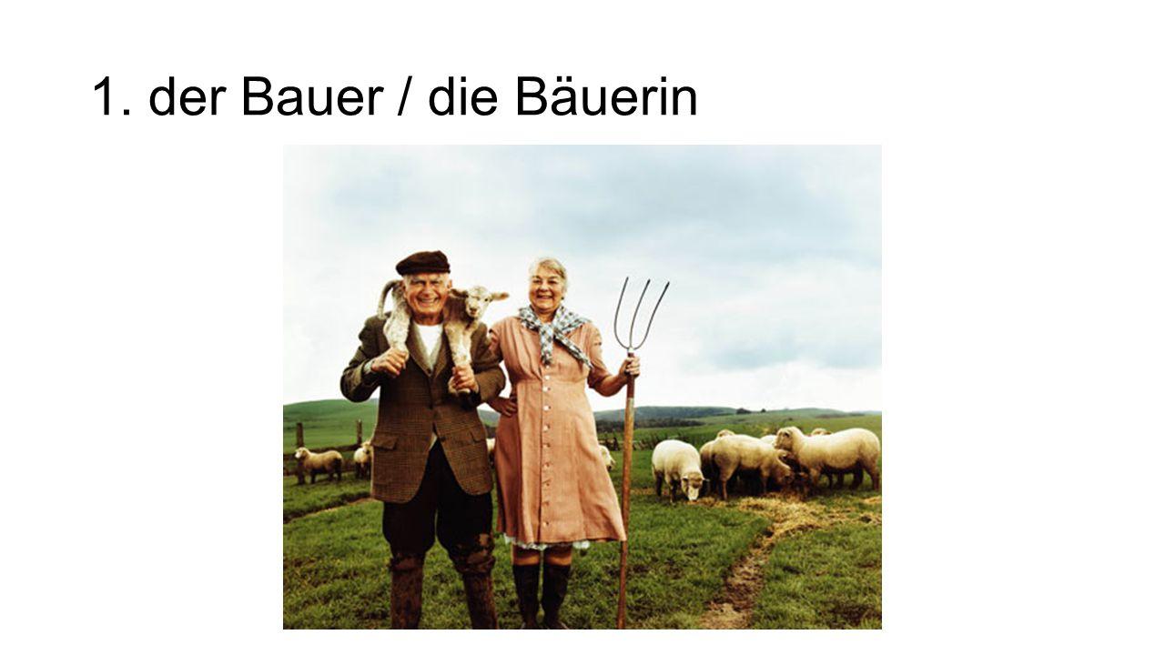 1. der Bauer / die Bäuerin