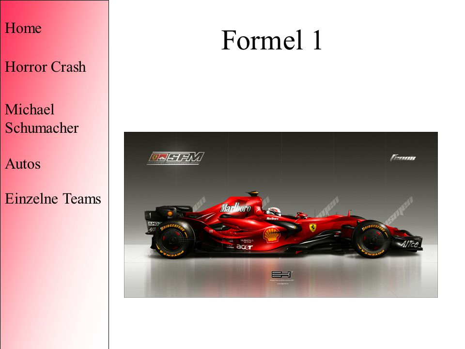 Formel 1 Home Horror Crash Michael Schumacher Autos Einzelne Teams