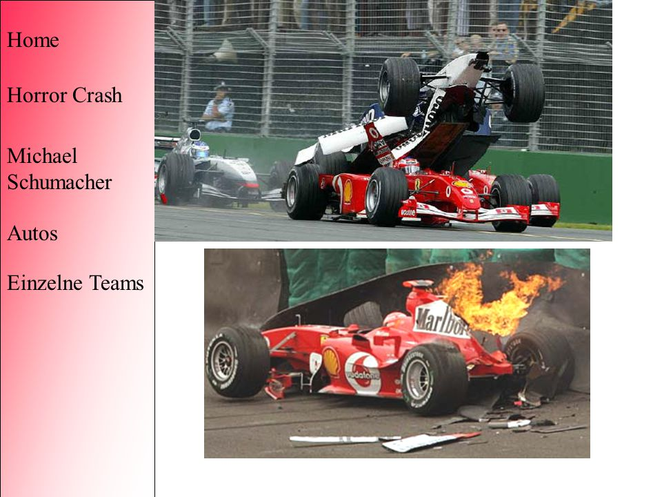 Home Horror Crash Michael Schumacher Autos Einzelne Teams