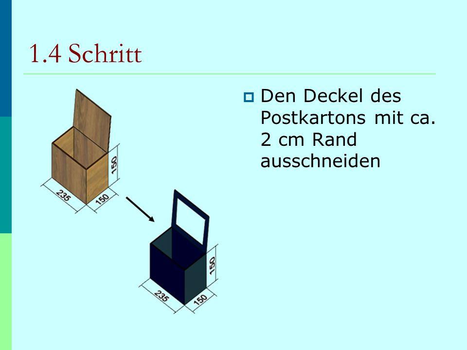 1.5 Schritt  Das entstandene Fenster in der kleinen Box mit den beiden Folien verkleben, damit später Sonnenlicht hindurch fällt