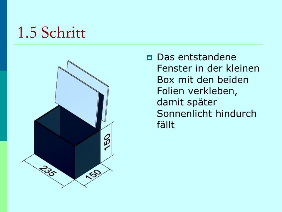 1.6 Schritt  Anschließend die kleine Box in die große Box stellen und den restlichen Raum mit Styropor zur Isolierung ausfüllen VideoGliederung Zur Kinematik auf das CAD- Feld klicken